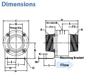 Threaded Line Vac Dimension